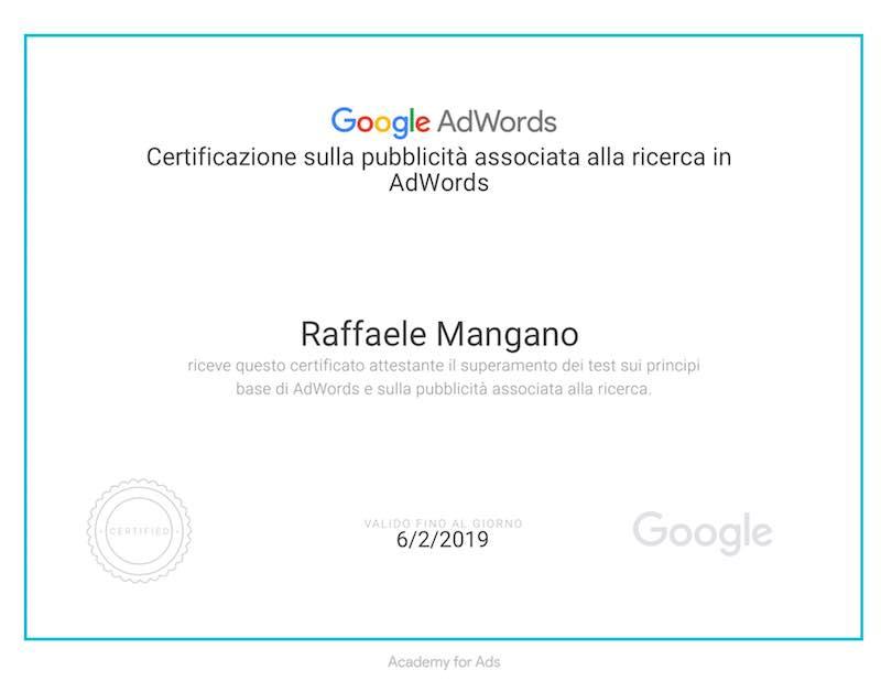 Raffaele-mangano-certificato-google-adwords-per-la-ricerca-partner-per-pmi