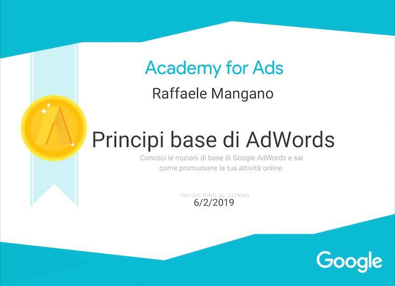 Raffaele-mangano-certificato-google-adwords-principi-base-parter-per-pmi